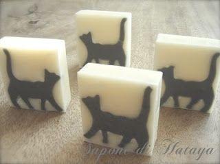 """Sapone di """"Gatto""""  essere quattro gatti 猫が4匹"""
