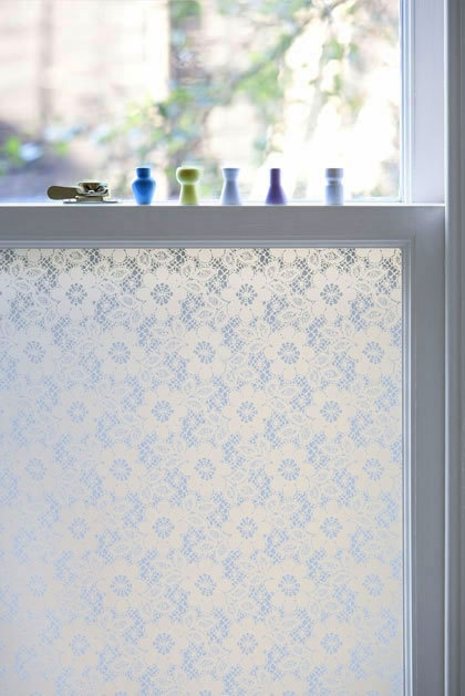 Lace Window Film Allows Light In But The View Is Blurred