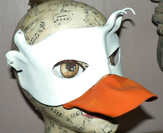 Duck leather mask by faerywhere on Etsy