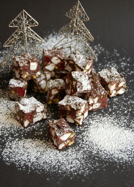 Christmas rocky road / Rocky road de Natal by Patricia Scarpin, via Flickr
