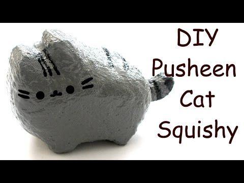 Homemade pusheen cat squishy tutorial youtube squishy for Squishy ideas