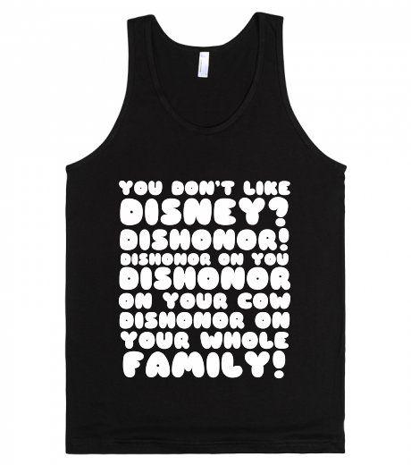 Mushu Dishonor Rant | Tank Top | Fun Mulan Disney Quote Shirts | SKREENED