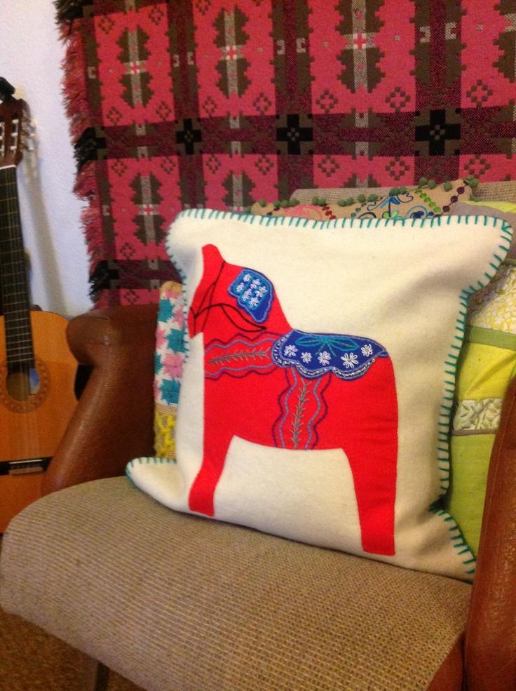 Dala horse cushion by mum
