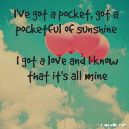 Natasha Bedingfield - Pocket full of Sunshine ( I freaking love this song!!! )