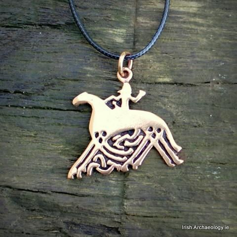 Bronze Sleipnir Pendant This distinctive bronze pendant depicts Sleipnir, an eight legged horse which was ridden by the Norse god Odin. It is based on an image found on a 9th century stone carving from Gotland, Sweden.
