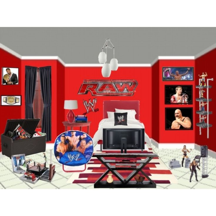Wwe wrestling bedroom decor