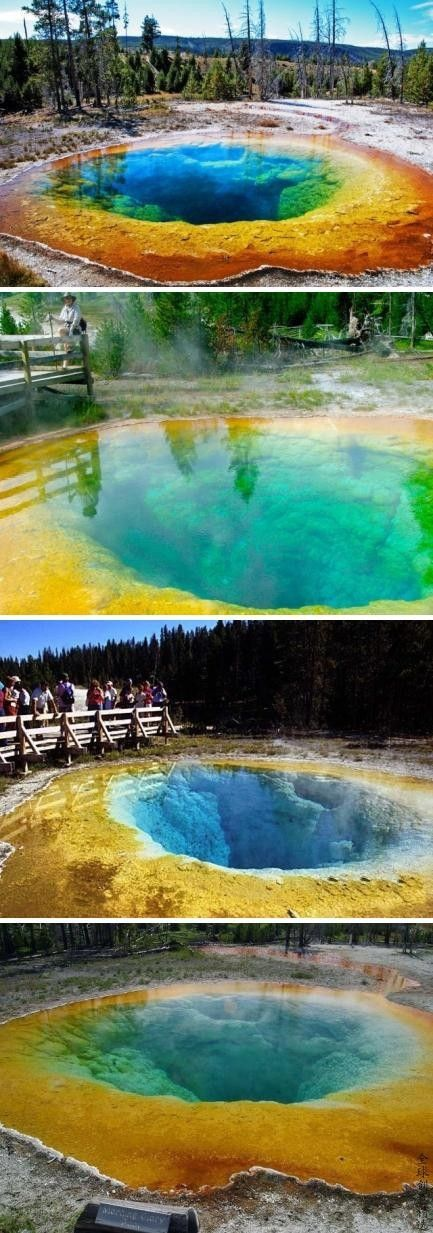 Amazing place to visit Grand Prismatic Spring - Yellowstone National Park, Wyoming