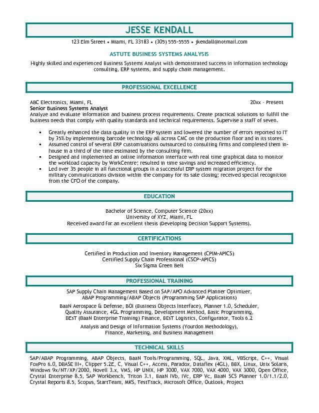 45 best Tech images on Pinterest Business analyst, Business - ba resume sample