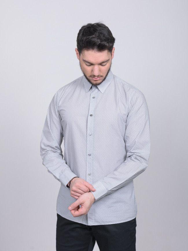 52214213a7c8 Ανδρικό εμπριμέ πουκάμισο HUGO BOSS slim line