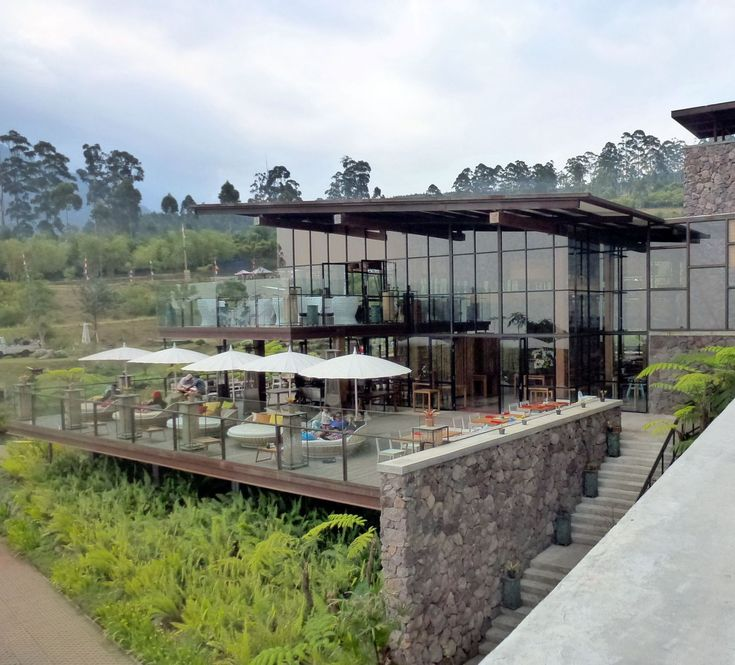 A lightweight, glass-walled structure on Kolonel Masturi Km 11, Cisarua, Bandung, is the centerpoint in the family leisure park Dusun Bambu. Located in Lembang, the vast, high-terrain recreational area, Dusun Bambu is one of such destination transformed from an unused agricultural fields in recent years.