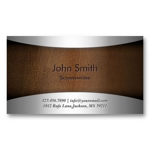 9 best aviation business cards and data plates images on pinterest modern leather screenwriter business card colourmoves