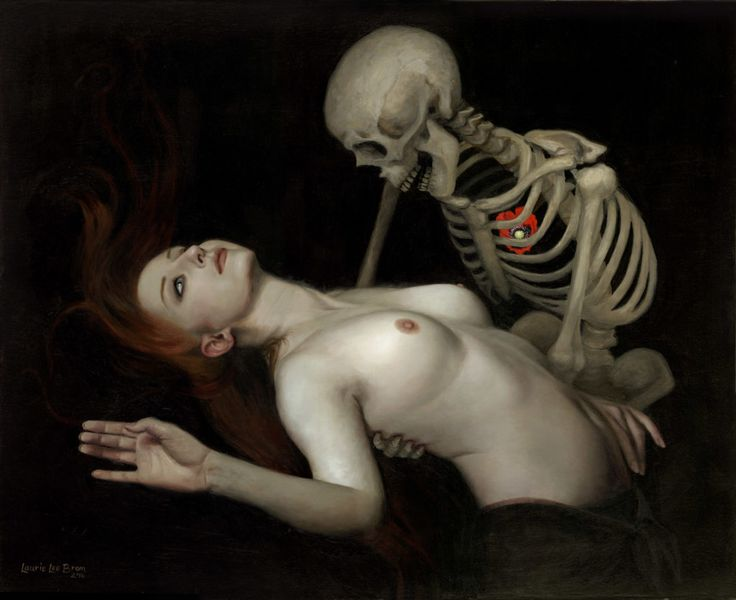 Laurie Lee Brom. Death and the Maiden