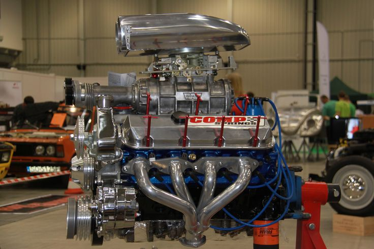 CHEVY ENGINE BBC V8 7.4 with supercharger ,build by hps.tienda