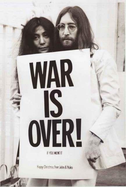 John Lennon and Yoko Ono War Is Over Poster 24x36 – BananaRoad
