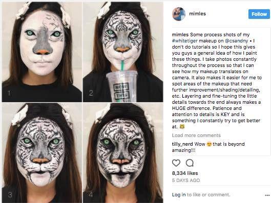Seorang Perempuan Asal Kanada Berhasil Membuat Ilusi Optik Dengan Menggunakan Make Up