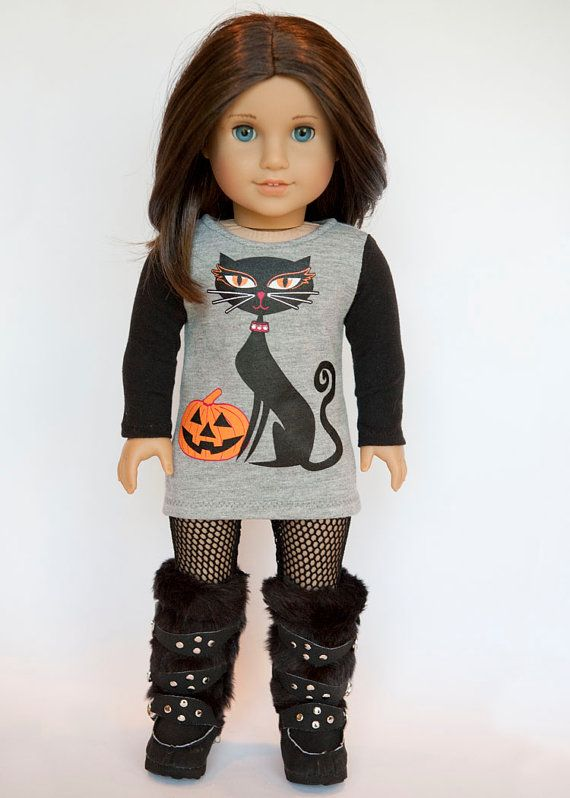 American Girl Doll upcycled Halloween tunic by EverydayDollwear