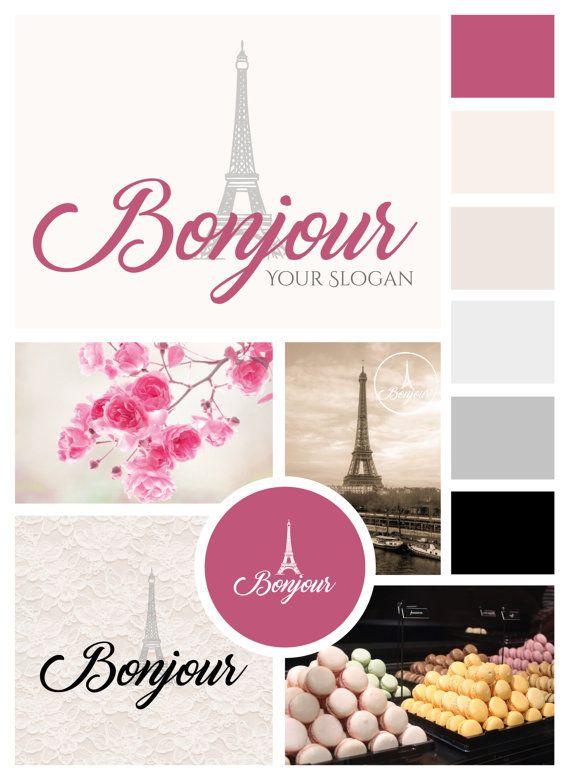 Logo/Premade Logo/Pink Logo/ Cute Logo/Paris Logo/Typography Logo/Brand…