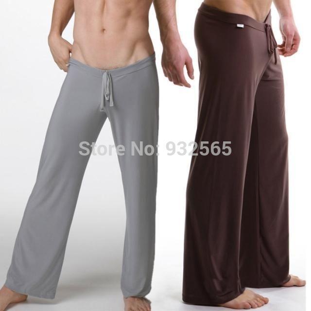 Pas cher Haute qualité marque N2N pantalon, 1 pcs/lote Yoga pantalon, / Hommes pantalon de pyjama, Occasionnel salon pyjama de nuit sous   vêtements, Acheter  Pantalons de qualité directement des fournisseurs de Chine:Men's T-shirt  men Tops sexy gauze long-sleeve Tees Silky O-Neck  Casual Tank  ultra-thin top breathable shirt fashion m