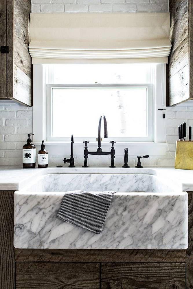 marble farmhouse sink.