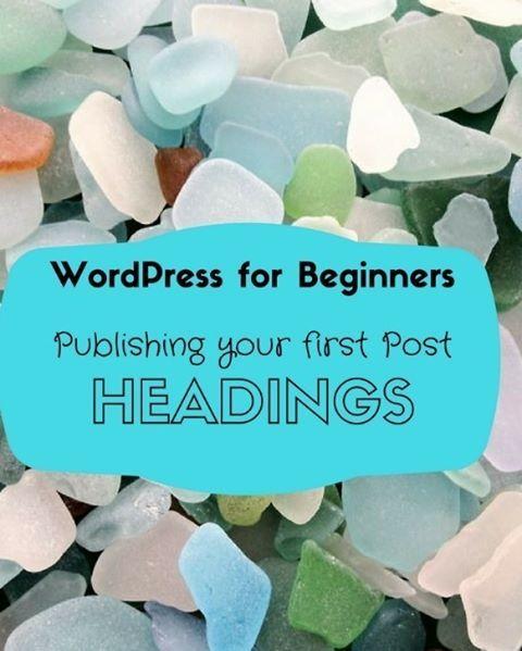 Publishing Your First Post----WordPress For Beginners: a Tutorial  #blog #blogging #wordpress #tutorial #wehearthandmadebling