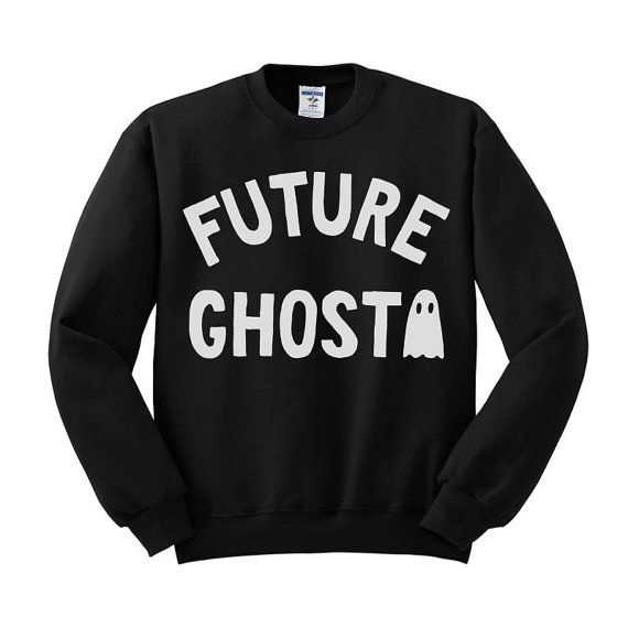 Future Ghost Crewneck Sweater, Halloween Crew Neck, Dead Inside Sweater, Grunge…