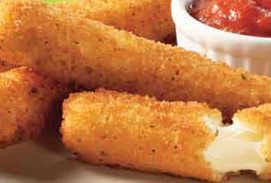 Homeade mozzarella sticks  I'm so gonna make these the next day I'm off and there is a Ravens game along with my old bay wings!  Yummy!!