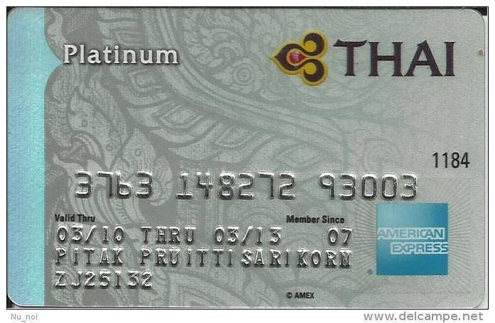 Flugzeug / Thai Airways / Platinum Bankkarte / Thailand / airline / bank card / keine TK / AmEx / American Express
