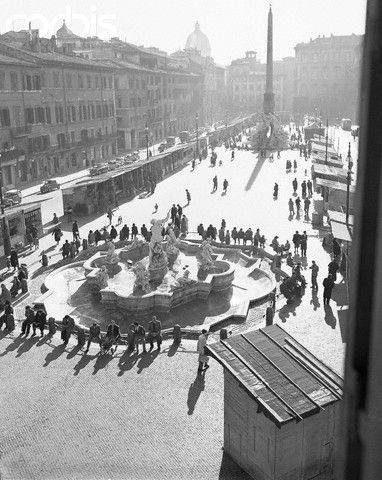 Roma View of the Piazza Navona - 1955   #TuscanyAgriturismoGiratola