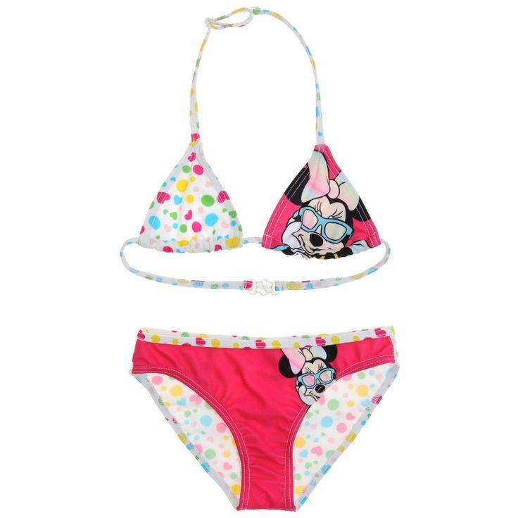 Costum de baie bikini Dosney Minnie alb/roz