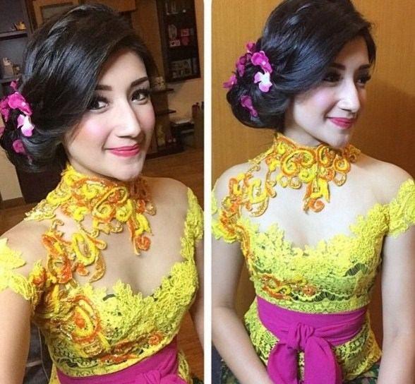 Model Kebaya Bali Untuk Wisuda Warna Kuning