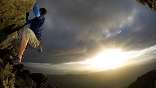 Rock climbing, Grampians, Victoria, Australia
