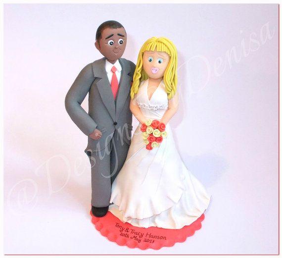 Bespoke Wedding Toppers Handmade Personalised by DesignsByDenisa