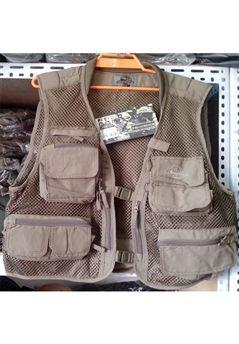 Olive Drab Fishing Vest 4 Pockets ! Buy Now at gorillasurplus.com