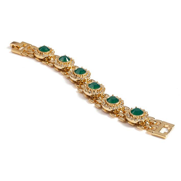 Lolu Rhoda Palace Green Chain Bracelet