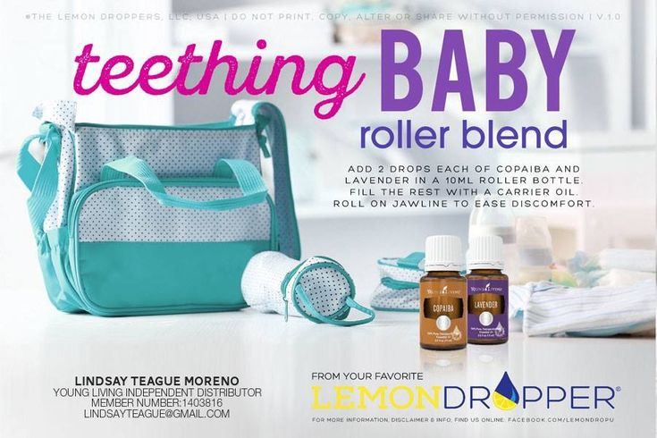 Young living teething baby roller blend