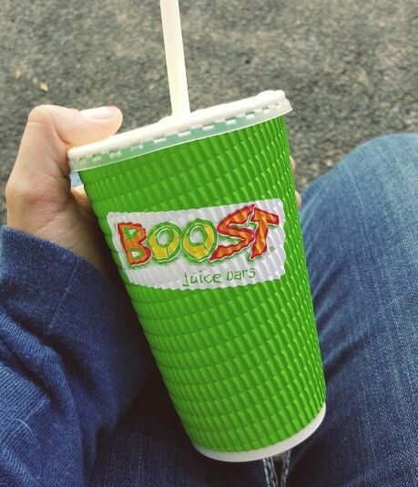 Delicious Banana Buzz smoothie from Boost Juice bars on the University of Queensland campus.