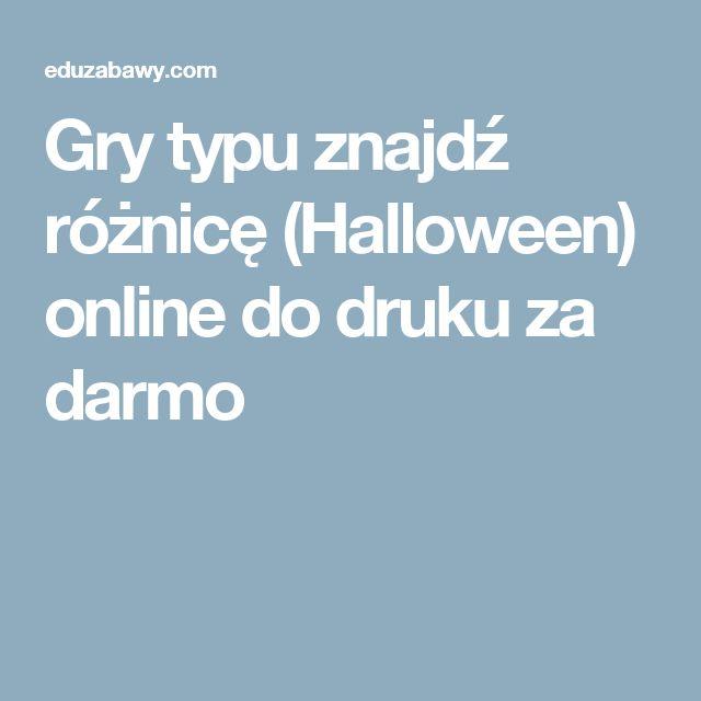 Gry typu znajdź różnicę (Halloween) online do druku za darmo