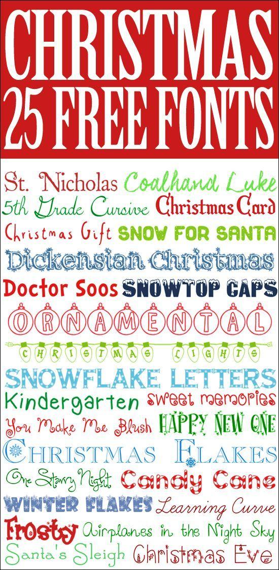 25 free Christmas Fonts