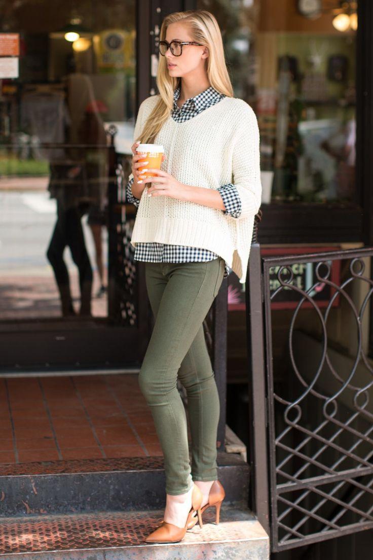 Just Because Cream Sweater at reddressboutique.com