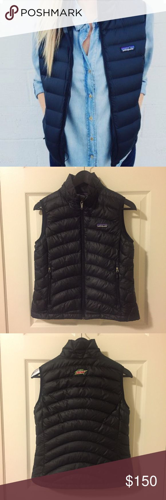 Patagonia Down Sweater Vest Patagonia down Sweater vest in excellent used condition. Has a small promotional logo on the upper back (could easily be covered with a cuter patch of your choice!). Perfect for fall and winter! Patagonia Jackets & Coats Vests