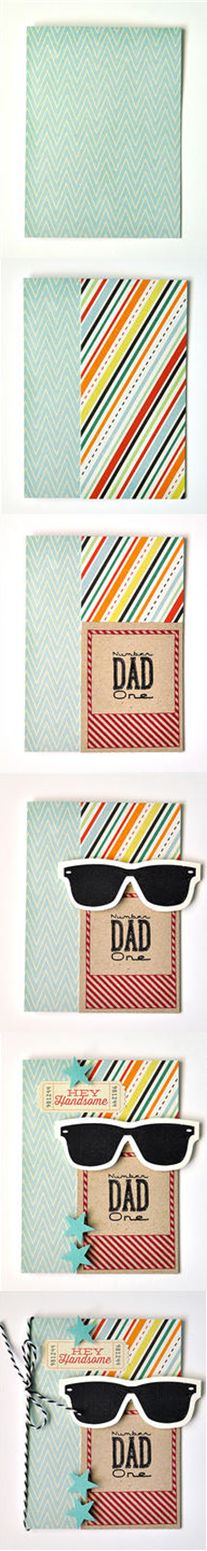Celebrate your dad this Father's Day with a handmade DIY card. Use stamp sets to add a creative design or pattern to bring out your dad's personality. A great gift for Father's Day!