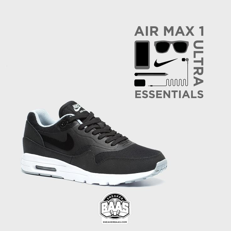"#nike #air #airmax #airmaxone #airmax1 #nikemidnight #nikenavy #sneakerbaas #baasbovenbaas  Nike Air Max 1 Ultra Essential ""Black & Wolf Grey"" - Now available! - Priced 134,99 Euro  For more info about your order please send an e-mail to webshop #sneakerbaas.com!"