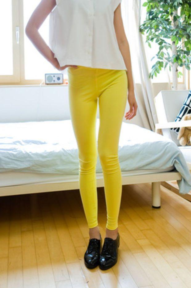 cotton slim leggings
