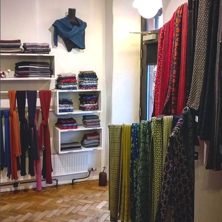 Our front of house studio shop  | McKernan Woollen Mills | Handmade scarves | Made in Ireland | Irish Design | Mens & Womens Accessories