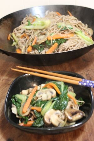 Vegetable and Buckwheat Noodle Stir Fry
