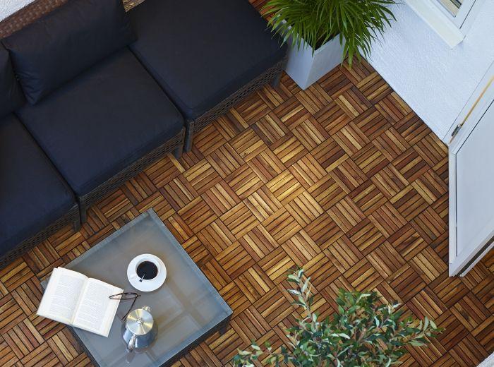 Skoghall vloer #ikea #welkombuiten #balkon #tuin #vlonder #hout