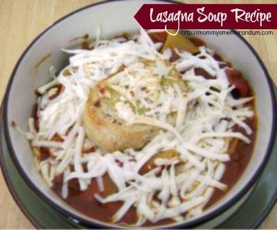 Lasagna Soup #Recipe