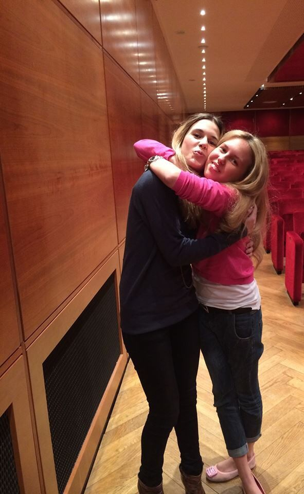 Actress Anna Favella with Giorgia Marin on April 16, 2014.