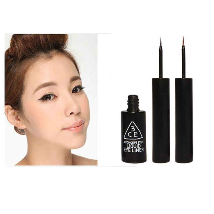 New 3CE 3 CONCEPT DARK BLACK LIQUID EYE LINER Korean Cosmetics Eye liner make up #3CE3concept