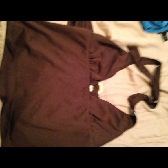 Brown tankini swim suit Brown swim suit with circle embellishments Amber bay Other